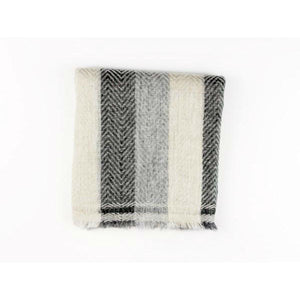 Neutral Herringbone Print Scarf