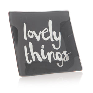 Ta Da Grey Glam 'Lovely Things' Trinket Tray