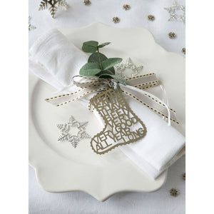 Silver Stocking Christmas Decoration - The Love Trees