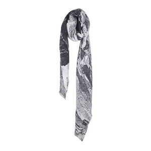 Abstract Grey Scarf - The Love Trees
