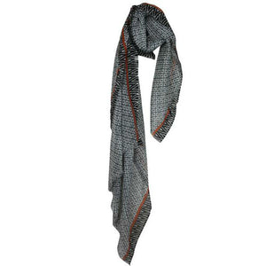 Geometric Black & White Scarf - The Love Trees