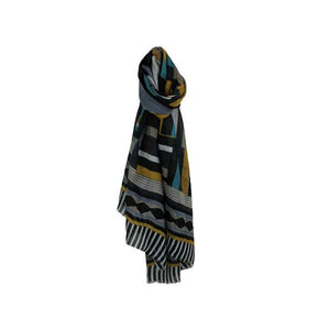 Multi Colour Patterned Scarf - The Love Trees