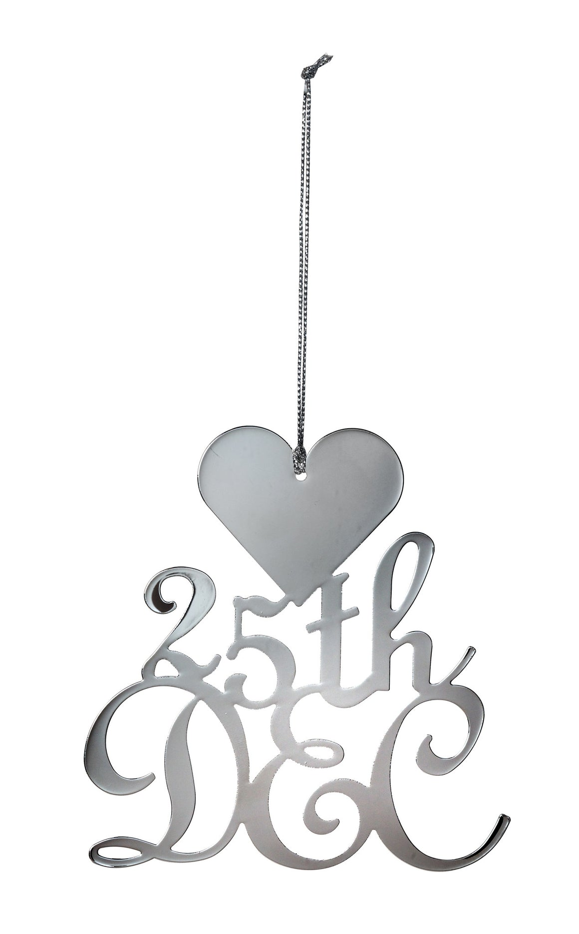 '25th Dec' Heart Christmas Decoration - The Love Trees
