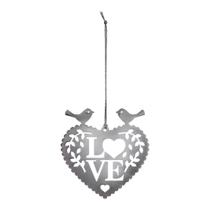 Leafy Love Bird Heart Decoration