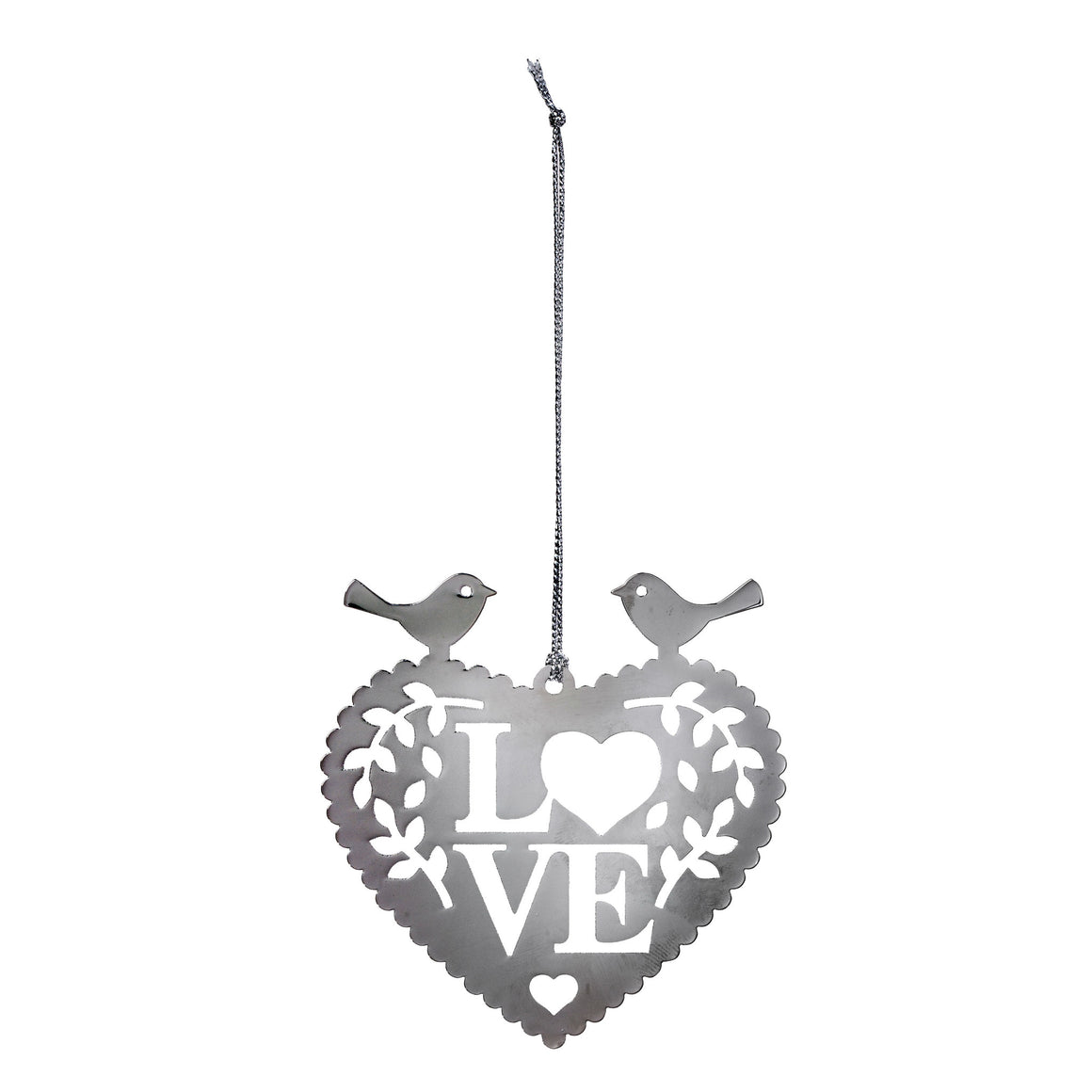 Leafy Love Bird Heart Decoration - The Love Trees