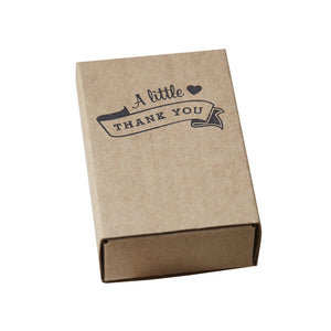 Kraft Matchbox Thank You Favour Boxes - Vintage Affair - The Love Trees