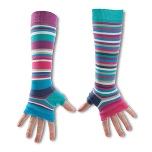 Striped Arm Warmers Set