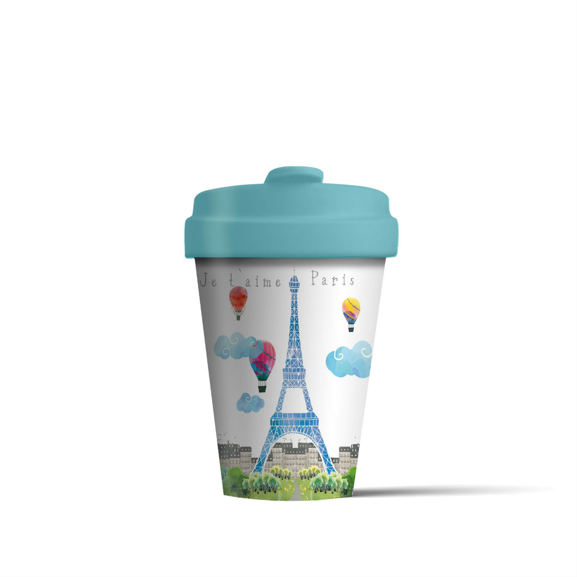 Paris Watercolour BambooCup - The Love Trees