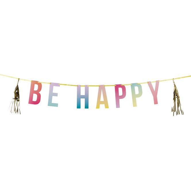 Be Happy Party Tassel Garland - The Love Trees