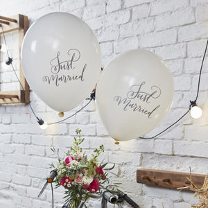 Just Married Balloons - The Love Trees