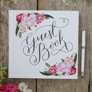 Boho Floral Wedding Guest Book - The Love Trees