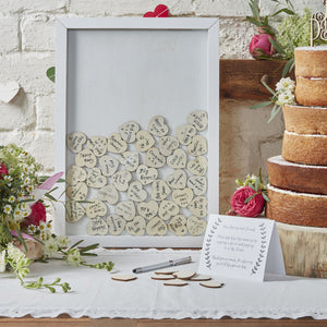 Heart Drop Top Frame Guest Book - The Love Trees