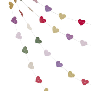 Colourful Heart Backdrop - Boho - The Love Trees