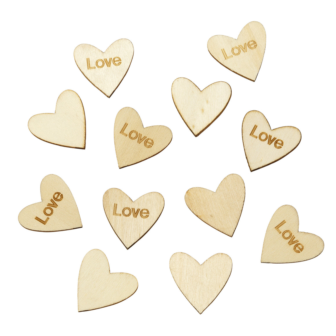 Blossom & Brogues Wooden Love Scatter Confetti - The Love Trees