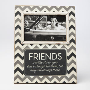 Friends Chevron Standing Photo Frame Black - The Love Trees