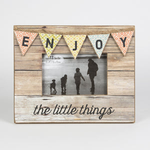 Enjoy Rustic Bunting Photo Frame - The Love Trees