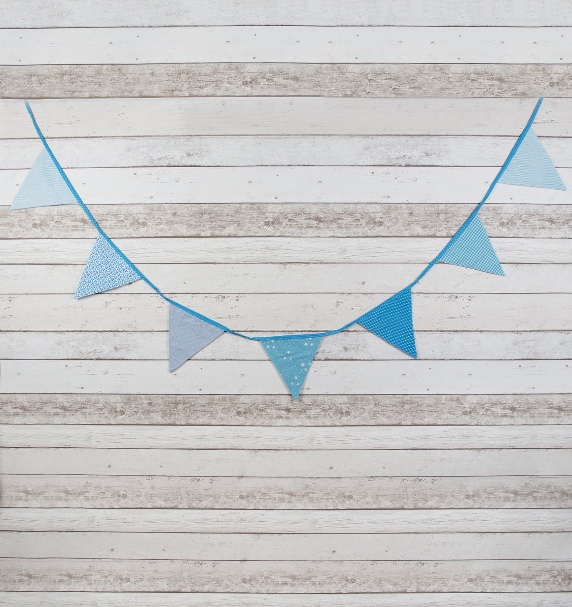 Baby Boys Blue Fabric Bunting - The Love Trees