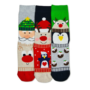 United Odd Socks Carol Christmas Socks Ladies 3 Pack - The Love Trees