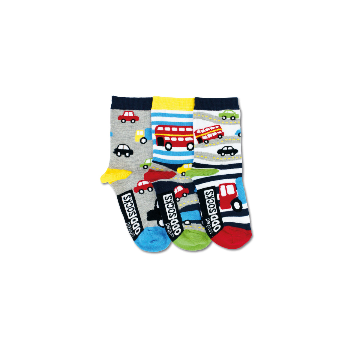 United Odd Socks Cars Toddlers 3 Pack