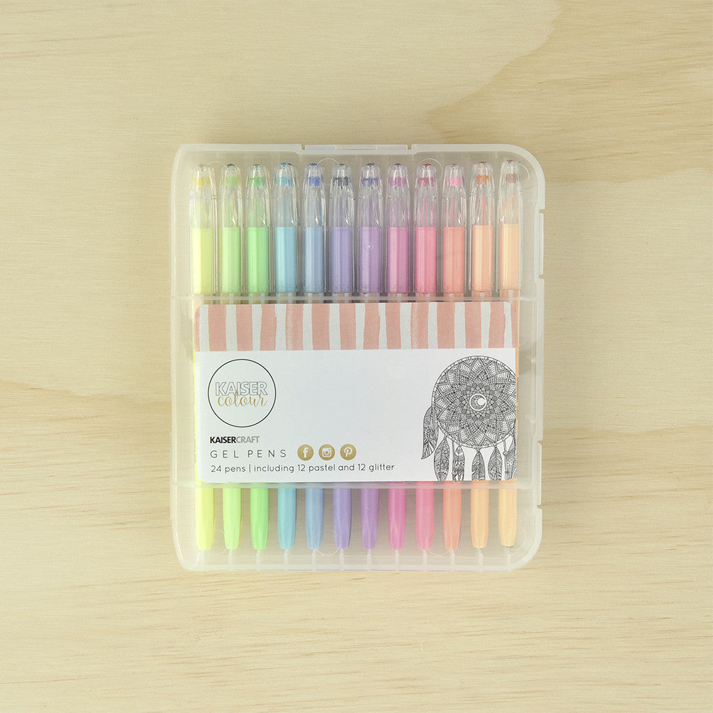 KaiserCraft Gel Pen Box 24 Colours