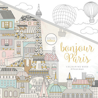 KaiserColour Bonjour Paris Colouring Book - The Love Trees