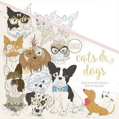 KaiserColour Cats And Dogs Colouring Book - The Love Trees