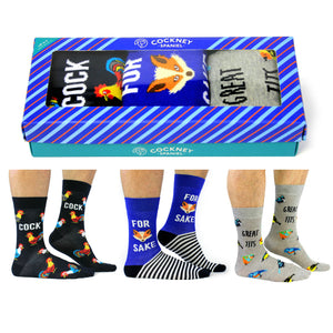 Cockney Spaniel Men's Socks Gift Box - The Love Trees