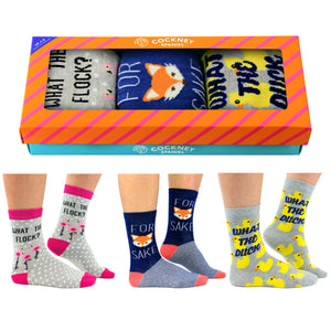 Cockney Spaniel Ladies Socks Gift Box - The Love Trees
