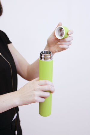 Slim Green Double Walled Vacuum Flask