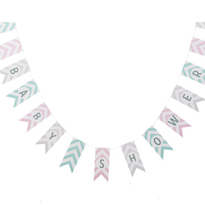 Baby Shower Bunting - Chevron Divine - The Love Trees