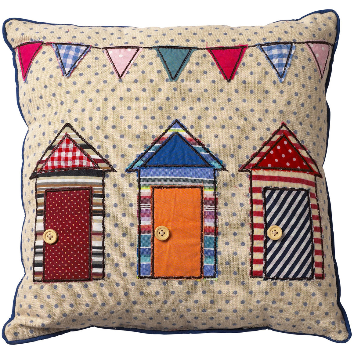 Beach Hut Cushion - The Love Trees