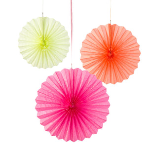 Decadent Decs Fluorescent Paper Fans - The Love Trees