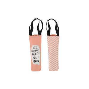 Cheeky Bubbles Canvas Wine Bottle Bag - The Love Trees
