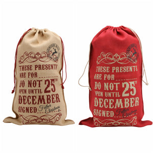 'These Presents Are For....Do Not Open...' Personalised Sack - The Love Trees