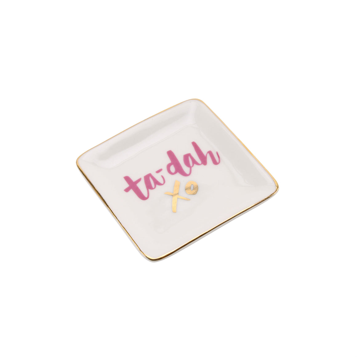 'Ta-Dah xo' Ceramic Ring Dish - The Love Trees
