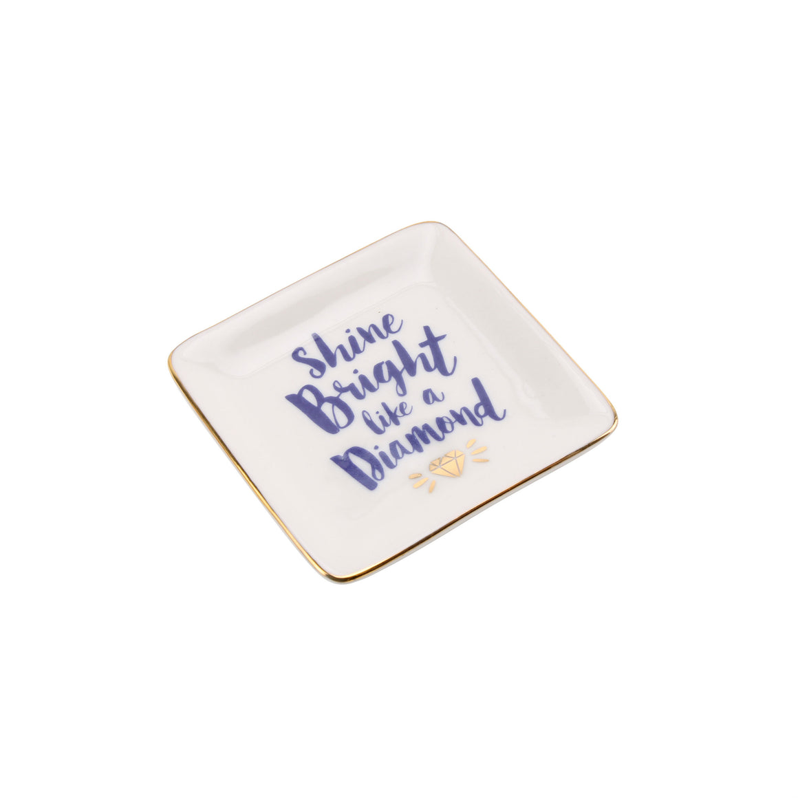 'Shine Bright Like A Diamond' Ceramic Ring Dish - The Love Trees