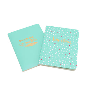 'Dream One Size Too Big & Big Ideas' A6 Lined Notebooks Set of 2 - The Love Trees