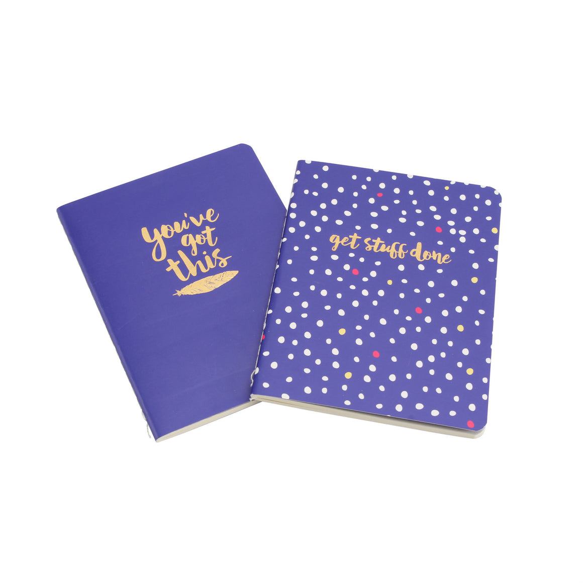 'You've Got This & Get Stuff Done' A6 Lined Notebooks Set of 2 - The Love Trees