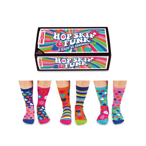 United Odd Socks Hop, Skip and Funk Girls Gift Box