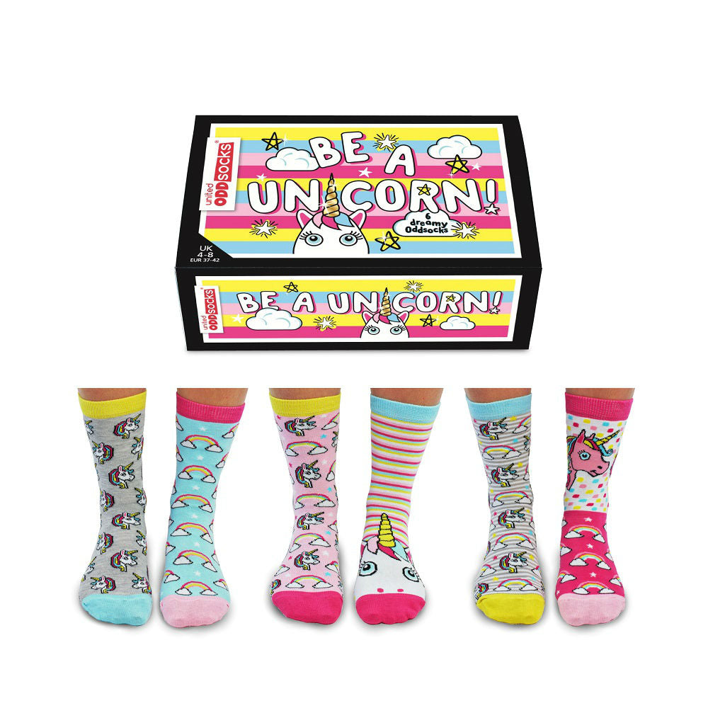 United Odd Socks Be A Unicorn Ladies Gift Box