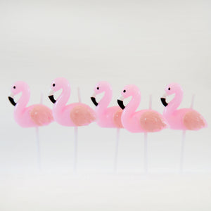 Flamingo Cake Candles - The Love Trees