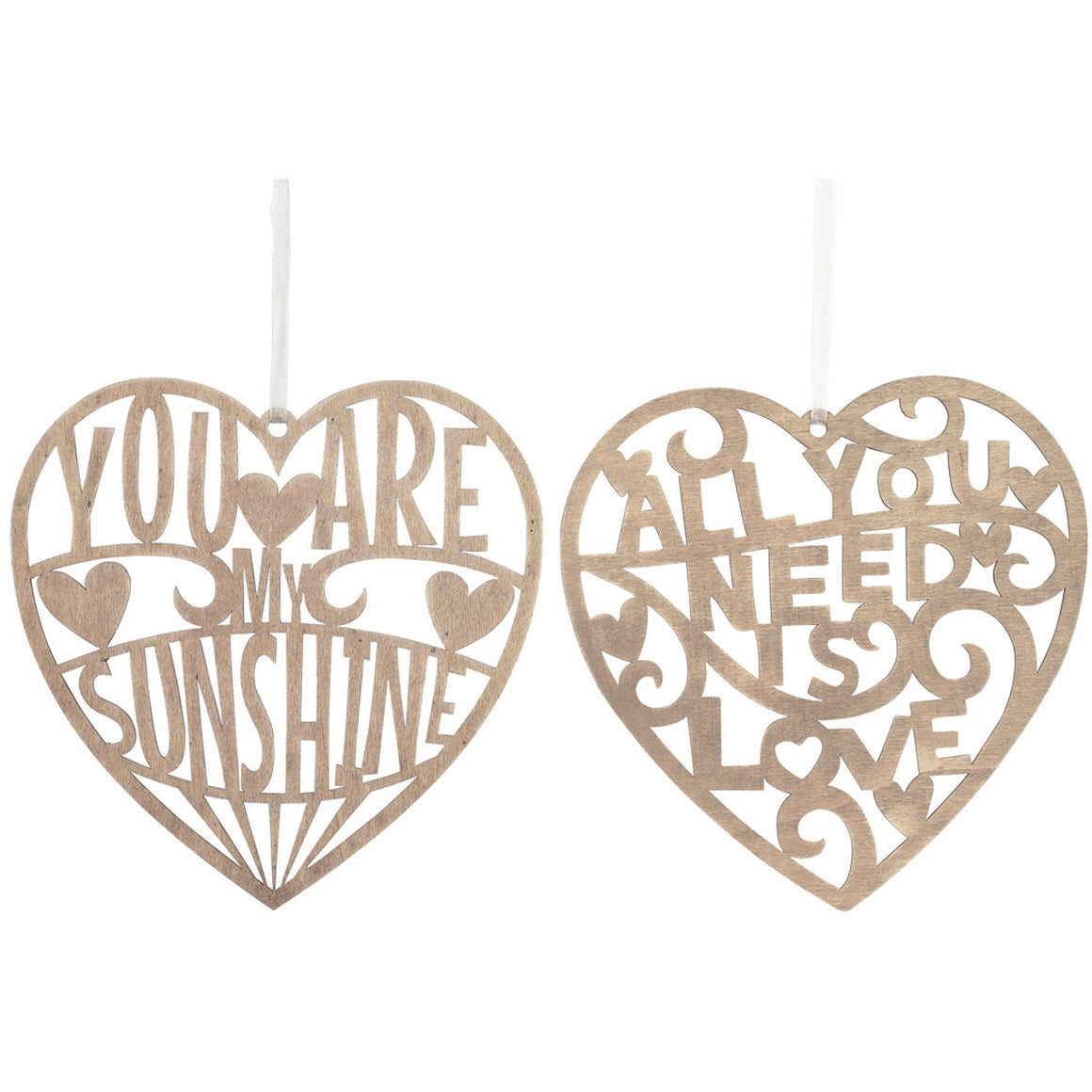 Laser Cut Lyric Heart Decoration