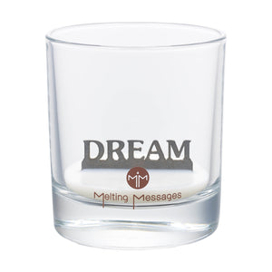 Melting Messages 'Dream' Silver Candle