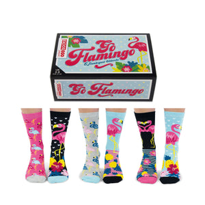 United Odd Socks Go Flamingo Ladies Gift Box - The Love Trees
