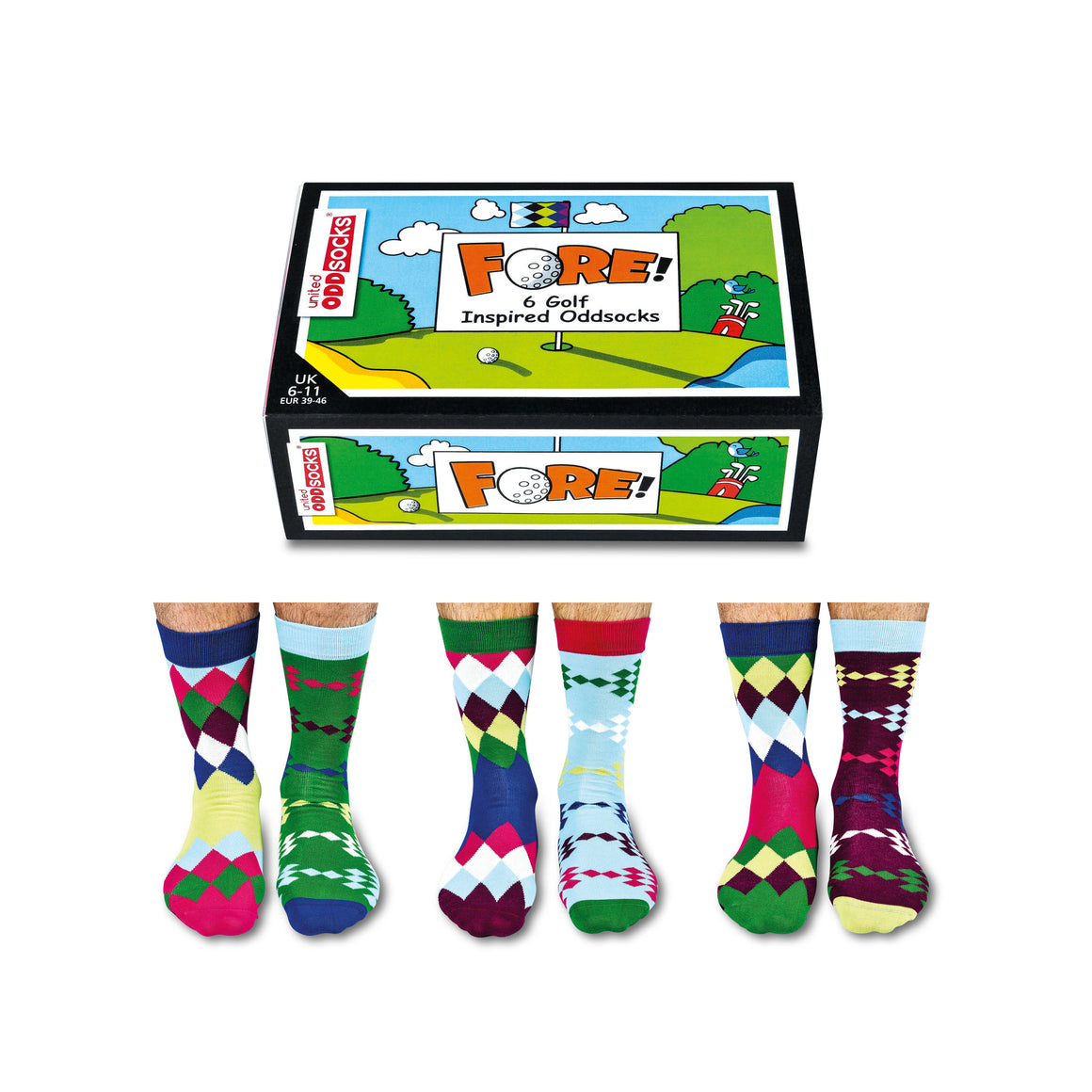 United Odd Socks Fore Mens Gift Box - The Love Trees