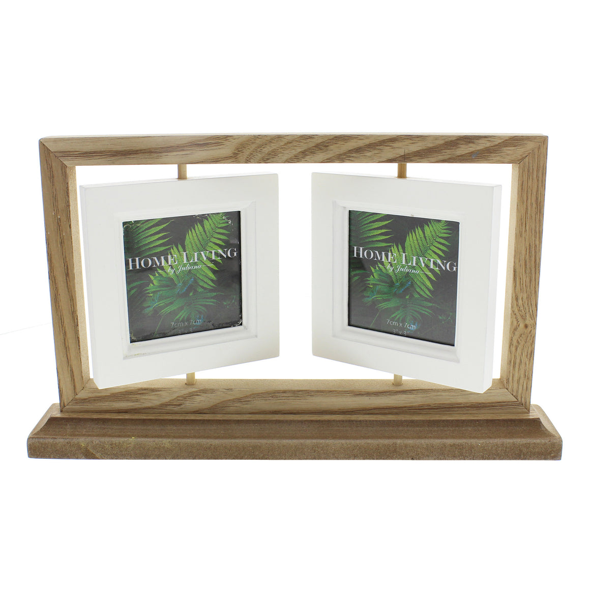 "Amazonia Collection Wooden Suspended Photo Frame Double 3x3"" - The Love Trees"