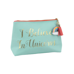 Cloud Nine 'I Believe in Unicorns' Make Up Bag - The Love Trees