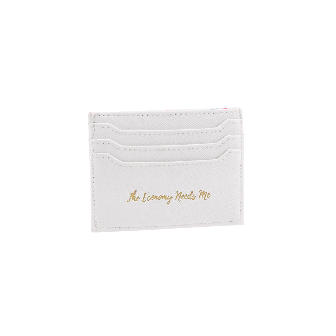 Willow & Rose 'The Economy Needs Me' White Card Holder