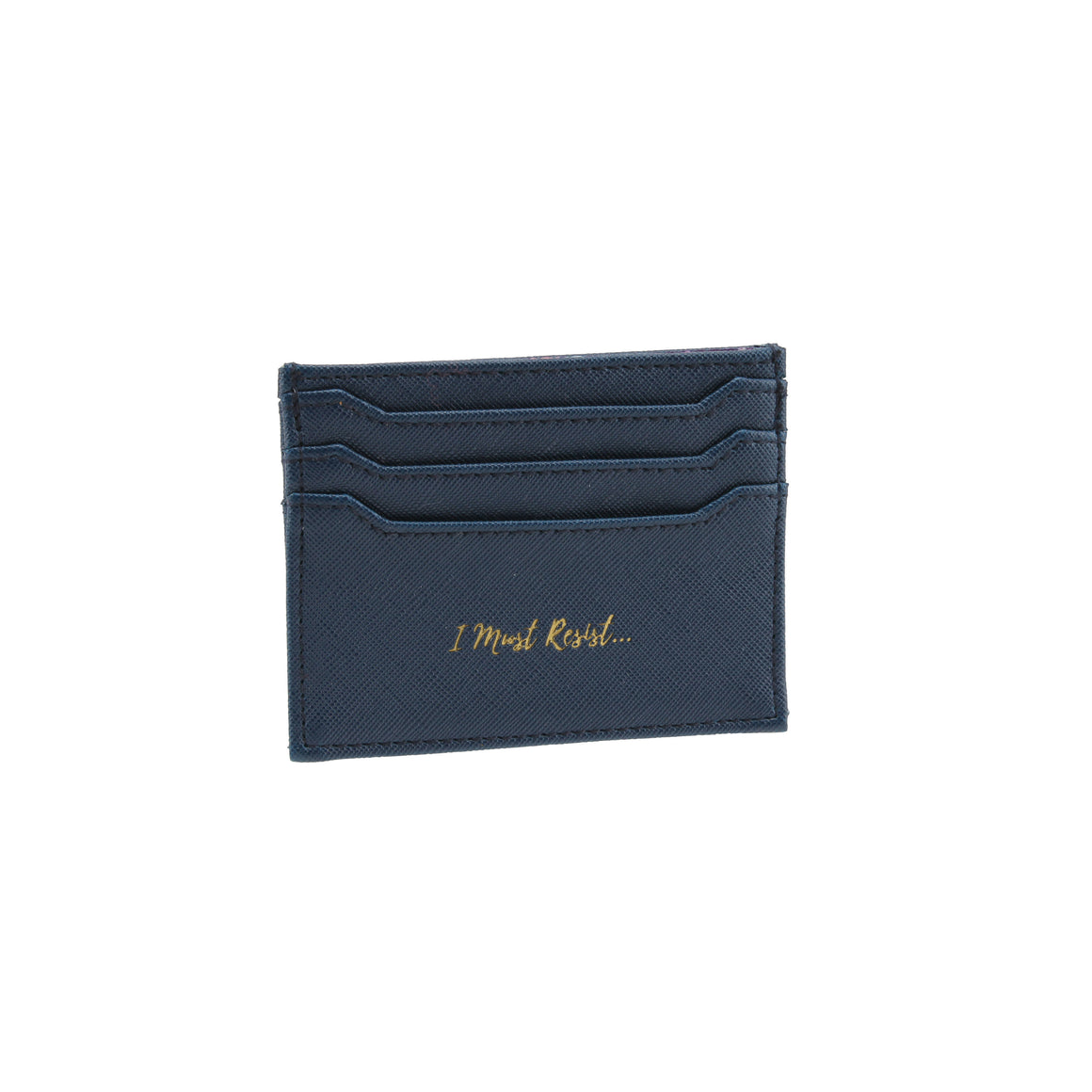 Willow & Rose 'I Must Resist...' Navy Card Holder