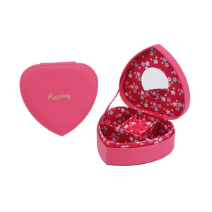 Willow & Rose 'Precious' Fuschia Heart Jewellery Box - The Love Trees